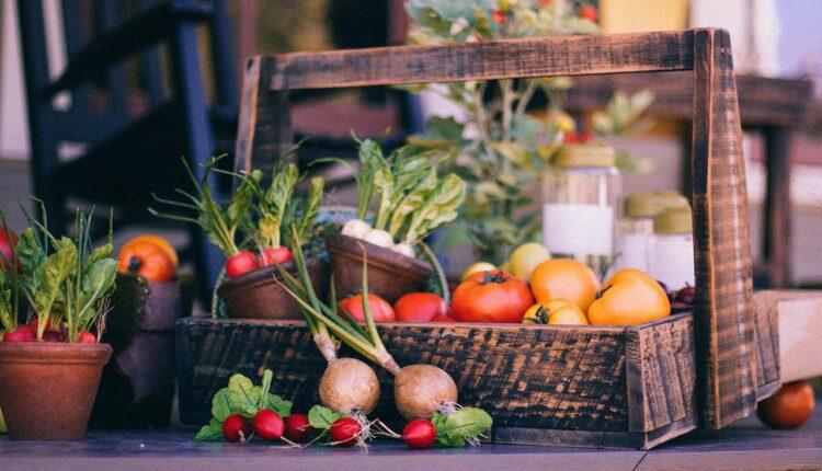кошик з овочами