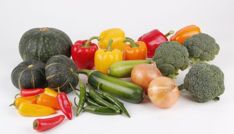 овочі цибуля перець